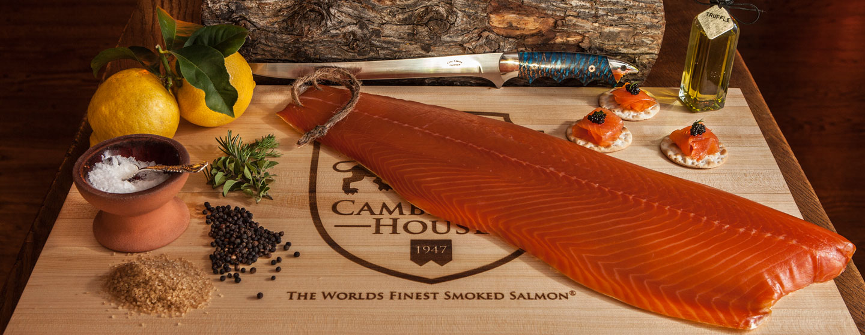 Smoked salmon rope hung