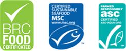 BRC MSC ASC Logos